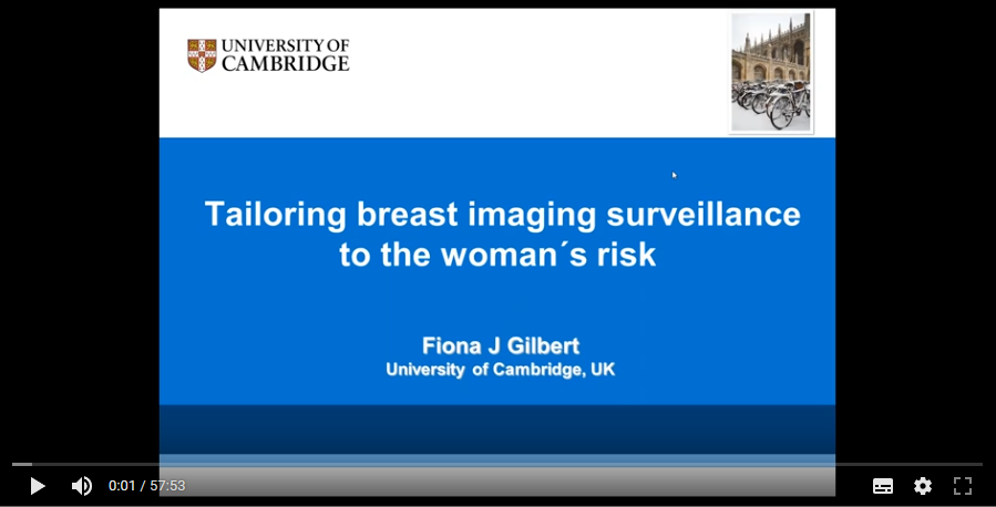 Tailoring breast imaging surveillance to the woman´s risk (2016)