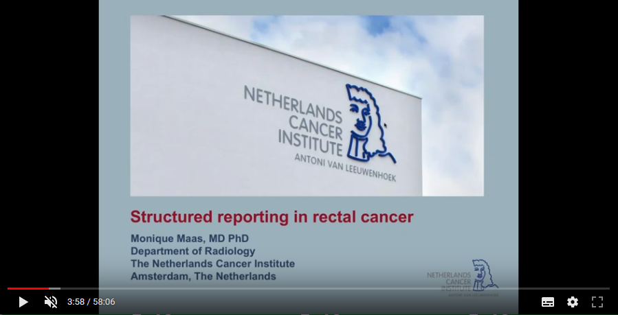 Structured reporting in rectal cancer (2018)