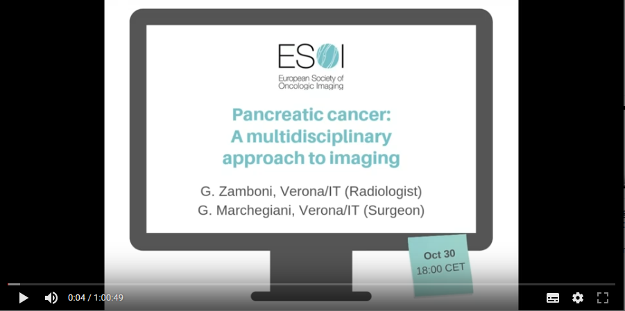 Pancreatic cancer: A multidisciplinary approach to imaging (2019)
